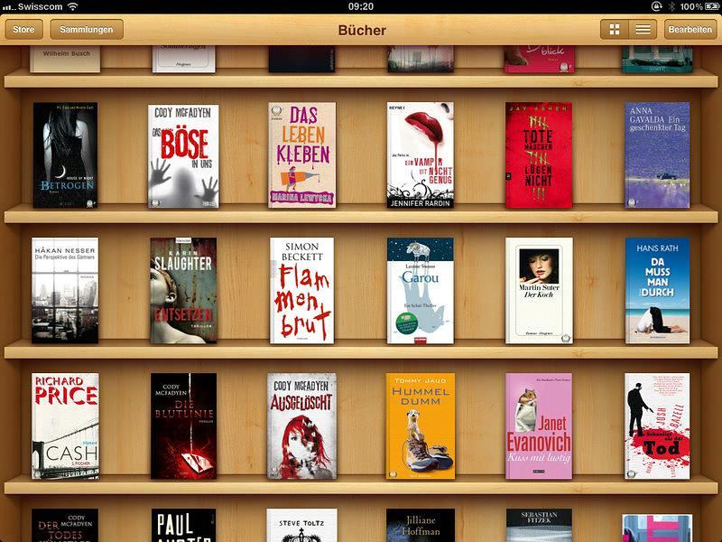 So könnte ein gut gefülltes, virtuelles Bücherregal aussehen, wenn es denn passende Angebote gäbe...